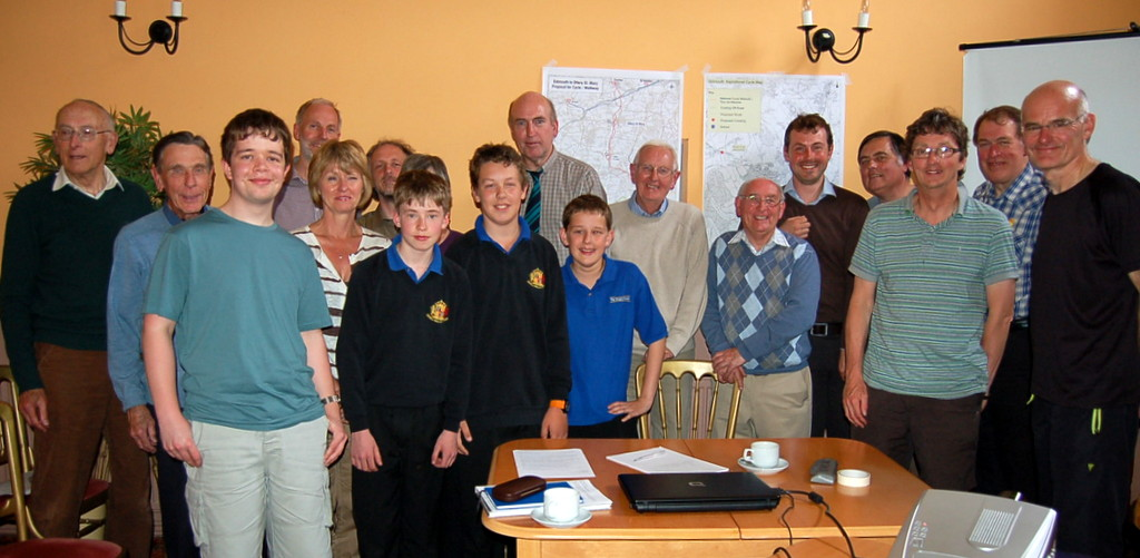 Students talk to the Sidmouth Vision Group