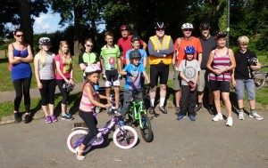 Over 20 cyclists took part in the first ride on 7 August.